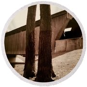Covered Bridge Southern Indiana Round Beach Towel