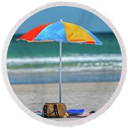 Covered Round Beach Towel