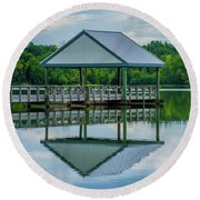 Covered Dock Round Beach Towel