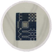 Coverlet (section Of) Round Beach Towel