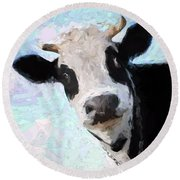 Cow Head Round Beach Towel