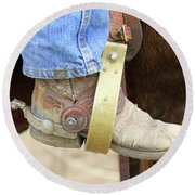 Cowboy Boot Round Beach Towel