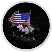 Cowboy Patriots Round Beach Towel