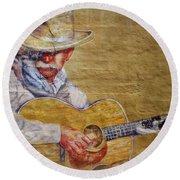 Cowboy Poet Round Beach Towel