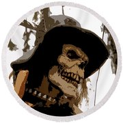 Cowboy Skeleton Round Beach Towel