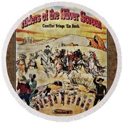 Cowboys And Knives Round Beach Towel