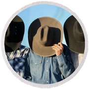 Cowboys Anonymous Round Beach Towel