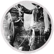 Cowboys, C1900 Round Beach Towel