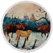 Cows Round Beach Towel