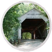 Cox Ford Bridge Round Beach Towel