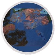 Coy Koi Round Beach Towel