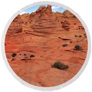 Coyote Buttes Pink Landscape Round Beach Towel