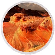 Coyote Buttes Rainbow Dragon Round Beach Towel