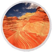 Coyote Buttes Sandstone Towers Round Beach Towel