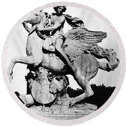 Coysevox: Mercury & Pegasus Round Beach Towel