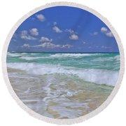 Cozumel Paradise Round Beach Towel