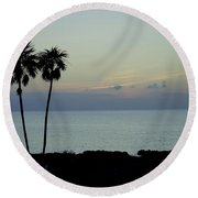Cozumel Twins Round Beach Towel
