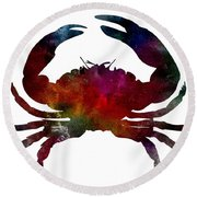Crab Nebula Round Beach Towel