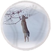 Crabapple Bunny Round Beach Towel