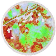 Crabapples Series #4 23 Round Beach Towel