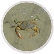 Crabby Round Beach Towel