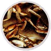 Crabs Awaiting Their Fate Round Beach Towel