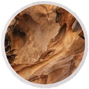 Crack Canyon Round Beach Towel