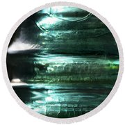 Cracked Glass Round Beach Towel