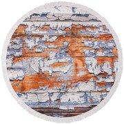 Cracked Wood Paint Round Beach Towel