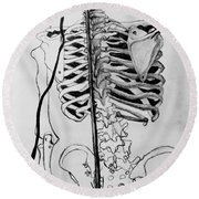 Crackling Bones Round Beach Towel