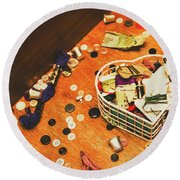 Crafting Corner Round Beach Towel