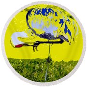 Craning Round Beach Towel