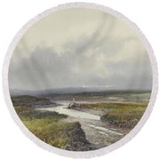 Cranmere Pool, Dartmoor Round Beach Towel