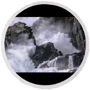 Crashing Wave At Quoddy Round Beach Towel