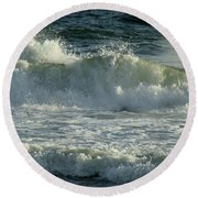 Crashing Wave Round Beach Towel by Sandy Keeton