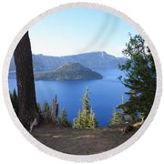 Crater Lake 11 Round Beach Towel
