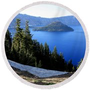 Crater Lake 12 Round Beach Towel
