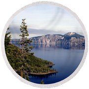 Crater Lake 3 Round Beach Towel