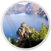 Crater Lake 4 Round Beach Towel