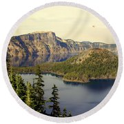 Crater Lake 6 Round Beach Towel