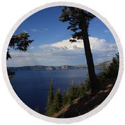 Crater Lake 7 Round Beach Towel