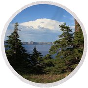 Crater Lake 8 Round Beach Towel