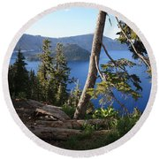 Crater Lake 9 Round Beach Towel