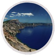 Crater Lake A Caldera Lake  Round Beach Towel