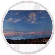 Crater Sunset Round Beach Towel