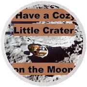 Crater1 Round Beach Towel