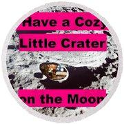 Crater12 Round Beach Towel