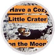 Crater16 Round Beach Towel