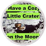 Crater18 Round Beach Towel