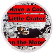 Crater2 Round Beach Towel